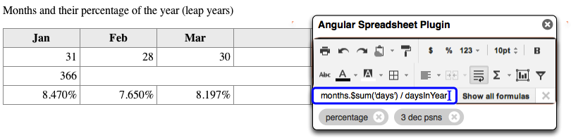 Angular as a Spreadsheet