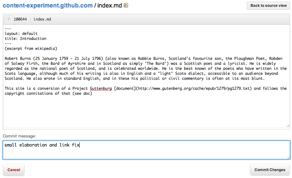 GitHub as a CMS to end CMSes