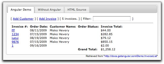 angular invoices demo
