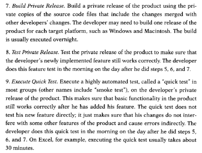 The Build Was Usually An Overnight Thing Next Day Implicitly A Private Release Of Some Sorts For What Amounts To Desk Checking Feature